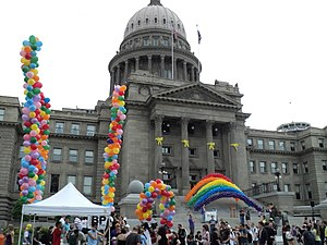 English: Boise Pride 2011 at the Idaho capitol.