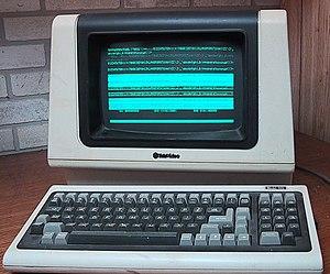 A Televideo ASCII character mode terminal, usi...