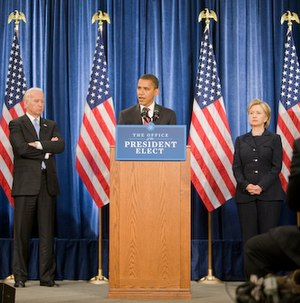 English: Photograph of Barack Obama (center), ...