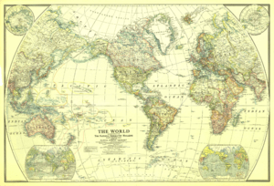 Map of the World in 1922