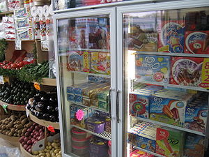 A freezer in Queens, NY, USA filled with Israe...
