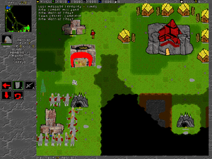 screenshot of an early phase of developement o...
