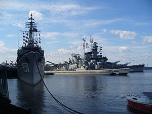 A photo taken of Battleship Cove in 2007.