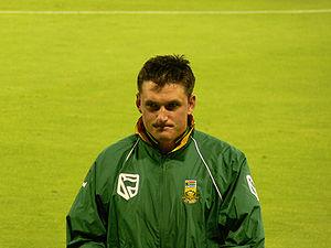 South African cricketer Graeme Smith.