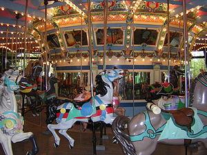 A scene from Kennywood, an amusement park loca...