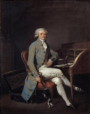 Portrait of Robespierre by Boilly, c.1791 (Pal...