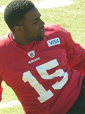 San Francisco 49ers wide receiver Michael Crab...