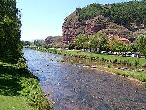Najerilla River across Nájera (La Rioja, Spain)