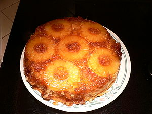 Pictures of me baking pineapple upside down