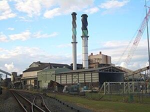 English: Sugar mill in Proserpine, Queensland.