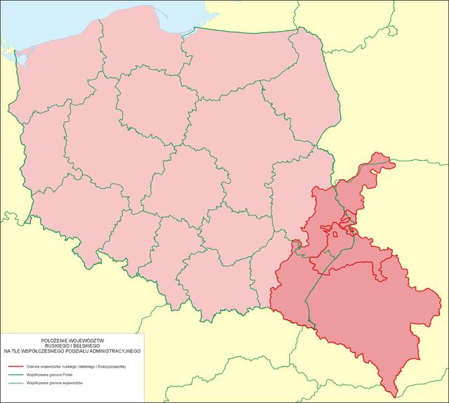 mapa rusi czerwonej
