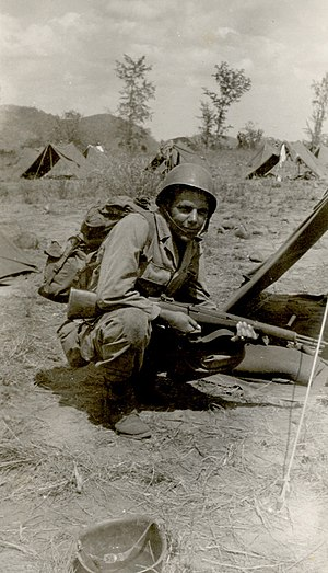 US soldier in the Phillipines during World War II
