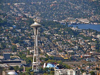 The Space Needle is a tower in Seattle, Washin...