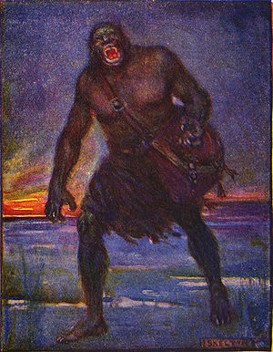 An illustration of Grendel by J.R. Skelton fro...