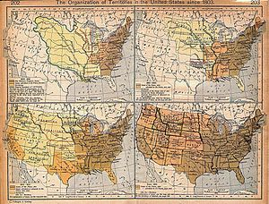 Territorial expansion since 1803, by William R...