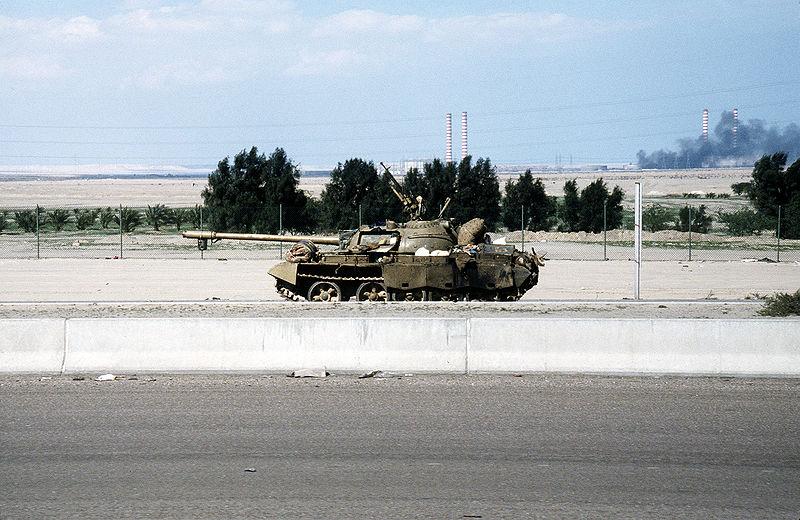 File:A damaged Iraqi Type 69 tank during the Gulf war.JPEG