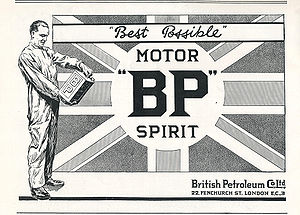 BP British Petroleum Co., Ltd., 1922 Union Jac...