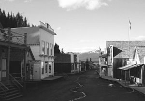 Barkerville's main street, taken in June 2004,...