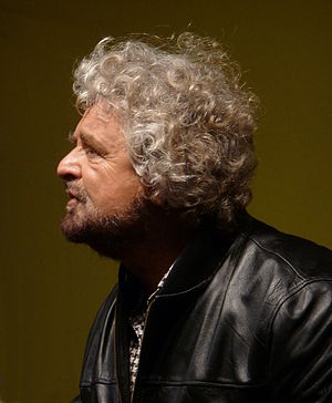 English: Beppe Grillo, Italian comedian, activ...