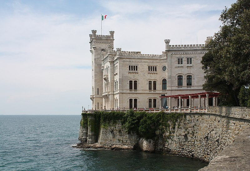 Castelos italianos: Castello di Miramate, Trieste.