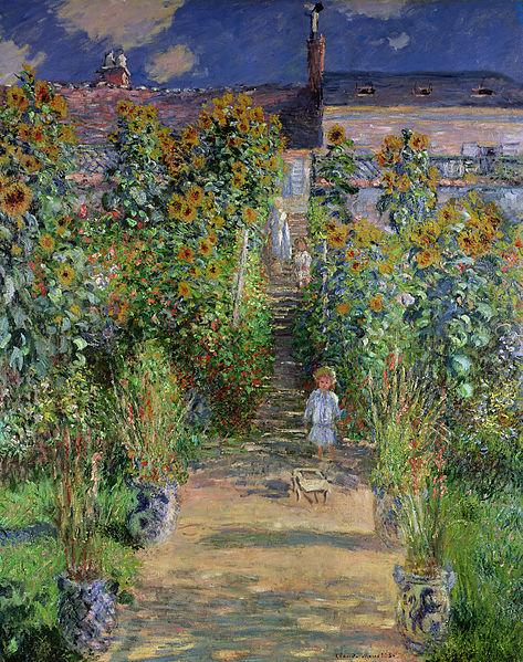 File:Claude Monet - Monet's garden at Vétheuil (1880).jpg