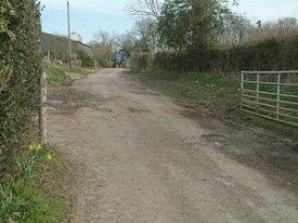 English: Crossways Lane Crossways Lane and Cro...