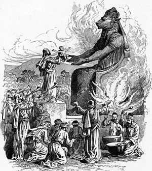 Offering to Molech (illustration from the 1897...