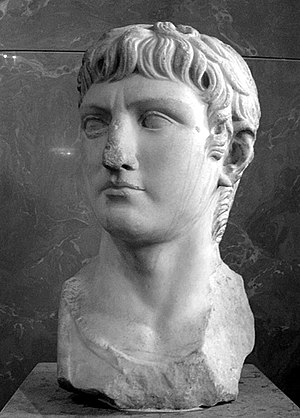 Bust of Germanicus. Marble, copy of the archet...