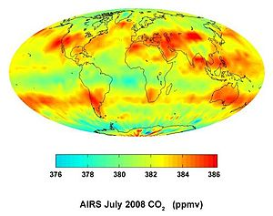 AIRS maps the distribution of carbon dioxide i...