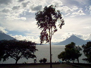 Lake Atitlán, Guatemala from Panajachel village