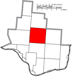 Location of Aid Township in Lawrence County