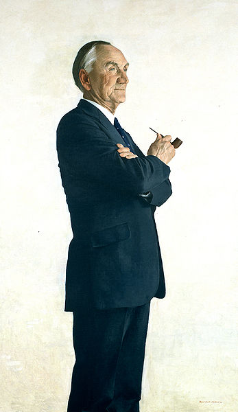 Senate Majority Leader Mike Mansfield, oil on canvas painting by Aaron Shikler, 1978 - Wikimedia image
