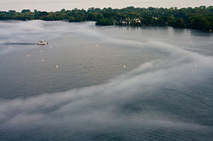 Mist on Lake Ontario