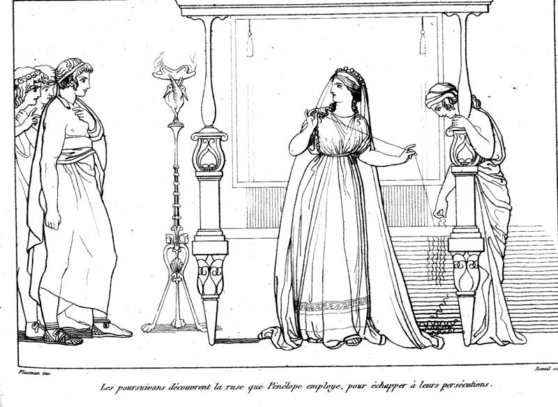 The suitors confront Penelope