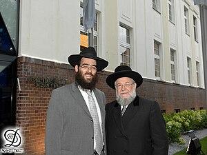 English: Rabbi Arie Zeev Raskin, Chief Rabbi o...