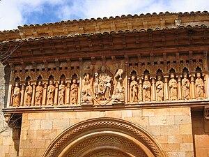 English: Pórtico de la Iglesia de San Juan Bau...