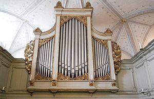 Deutsch: Schloss Glücksburg Orgelansicht 1