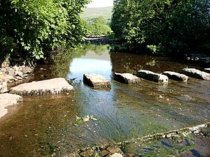 English: Stepping stones. Stepping stones in D...