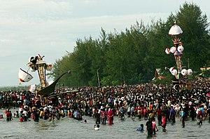 English: Photo of Tabuik festival