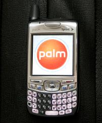 Photograph of a Palm Treo 700p CDMA Smartphone...