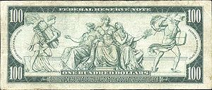 Reverse of 100 dollars (1914 series)