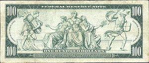 Reverse of 100 dollars (1914 series)