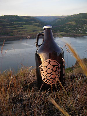 A growler of beer