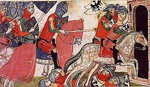 The Battle of Benevento from Giovanni Villani's Nuova Cronica.