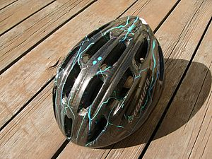 A bike helmet