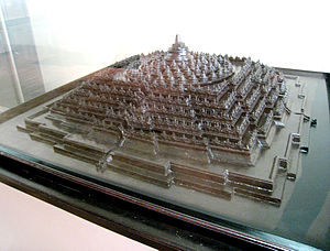 English: Borobudur architectural model, Nation...