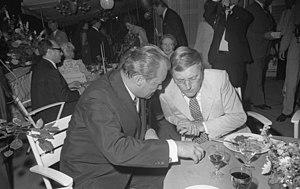 Rudolf Augstein (right) in 1970 with chancello...