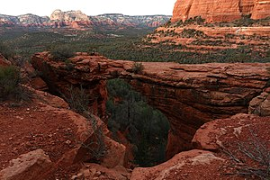 Natural arch rock formation known as Devil's B...