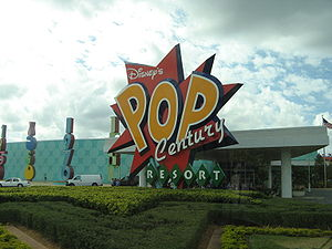 Entrance of Disney's Pop Century Resort