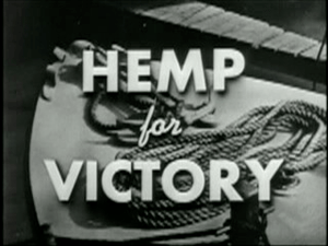 English: Title screen of the film Hemp for Vic...